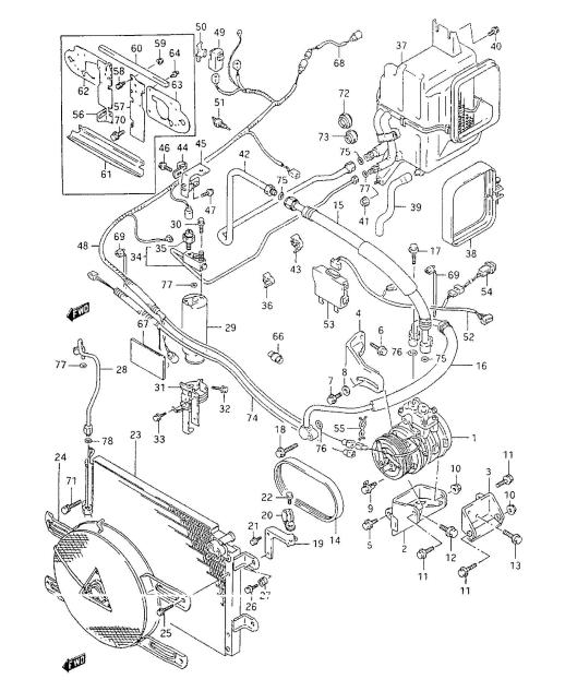 suzuki grand vitara ac parts diagram  suzuki  auto wiring