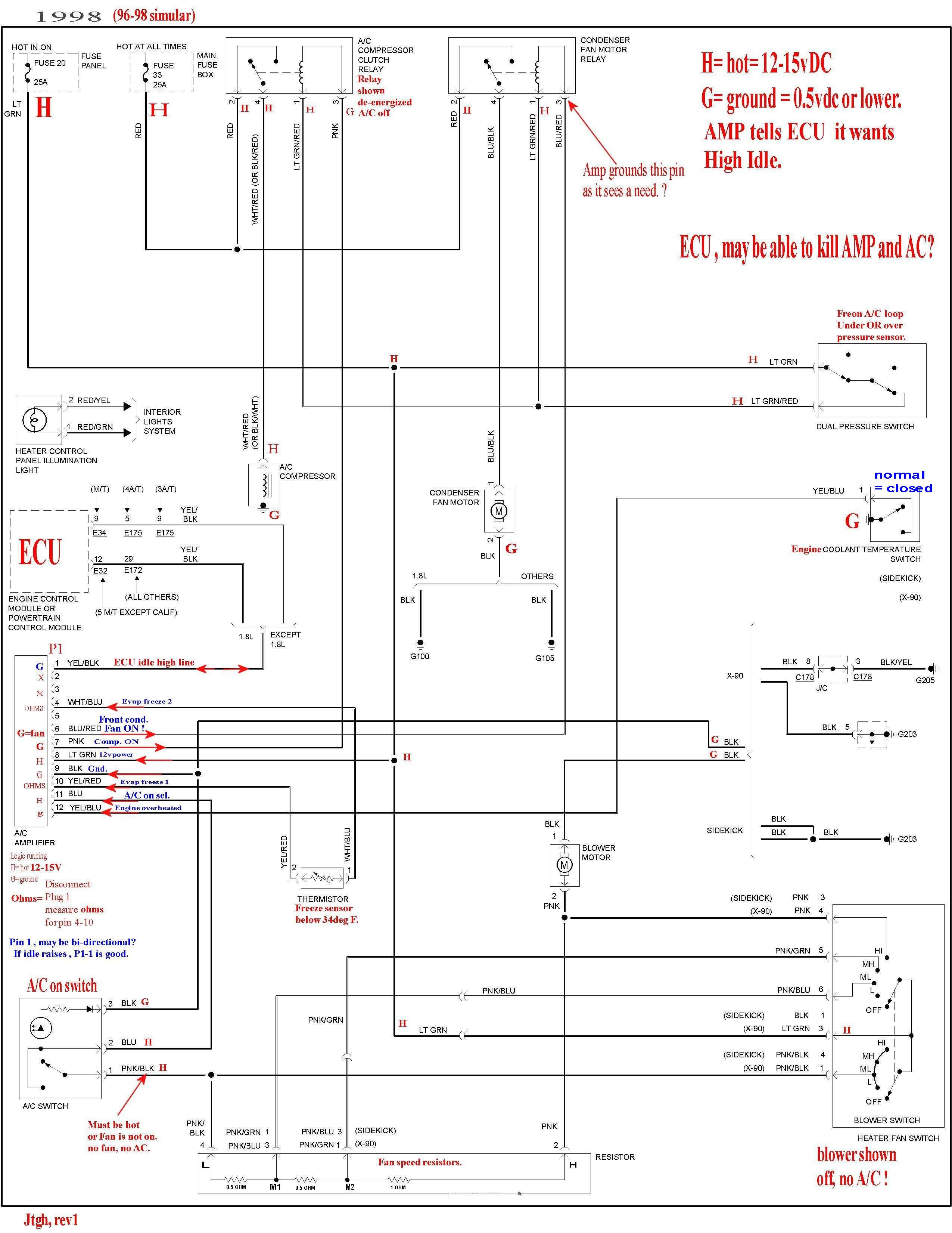 98 AC lever air conditioner repair suzuki f6a wiring diagram at gsmx.co