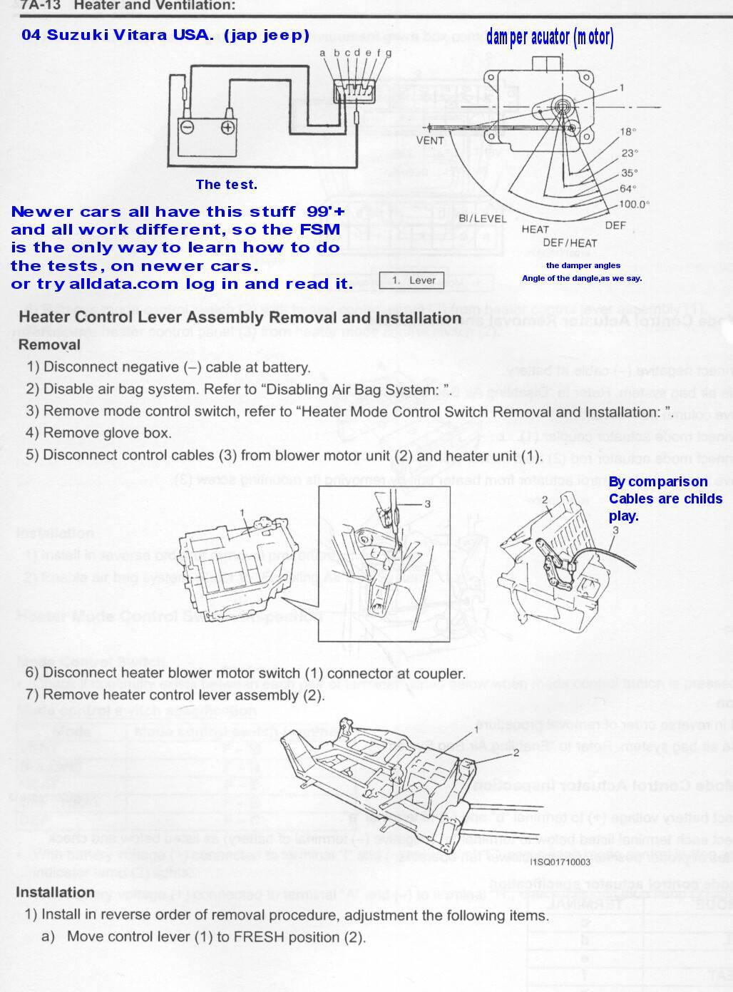 Heater In Cab Has Issues Suzuki 2 0 Engine Diagram Fsm Factory Service Manual As Sold At Your Dealer Or Used Fleabay Helmcom Suzukis Are Here Pitstop