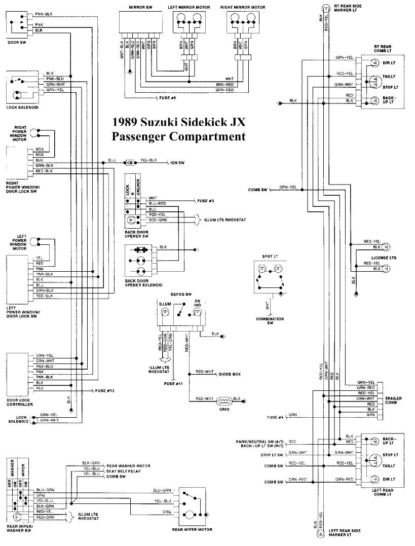 suzuki sidekick wiring diagram