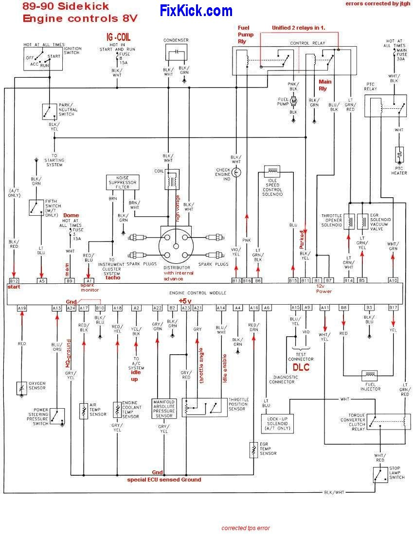 92 geo tracker ignition switch wiring diagram