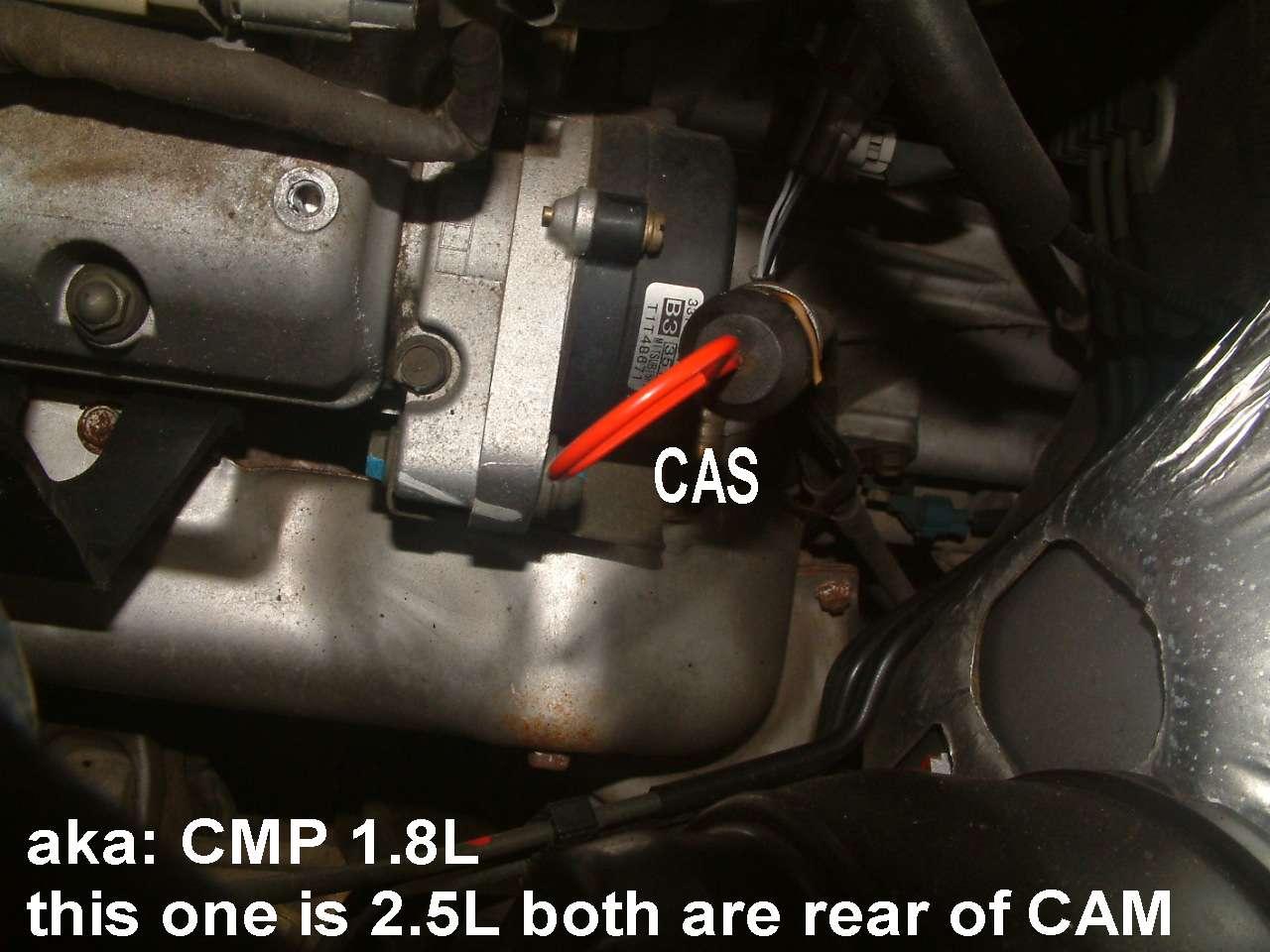 L Engine on Chevy Tracker Camshaft Position Sensor Location