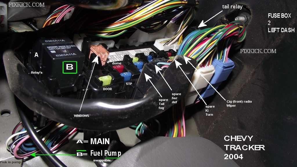 fusebox1w04 chevy tracker fuse box location wiring diagram online