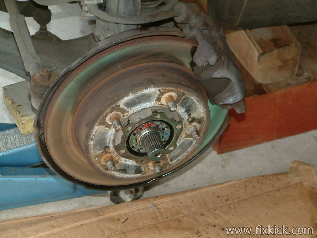swap out of front hub bearings ke caliper for 2005 chevy