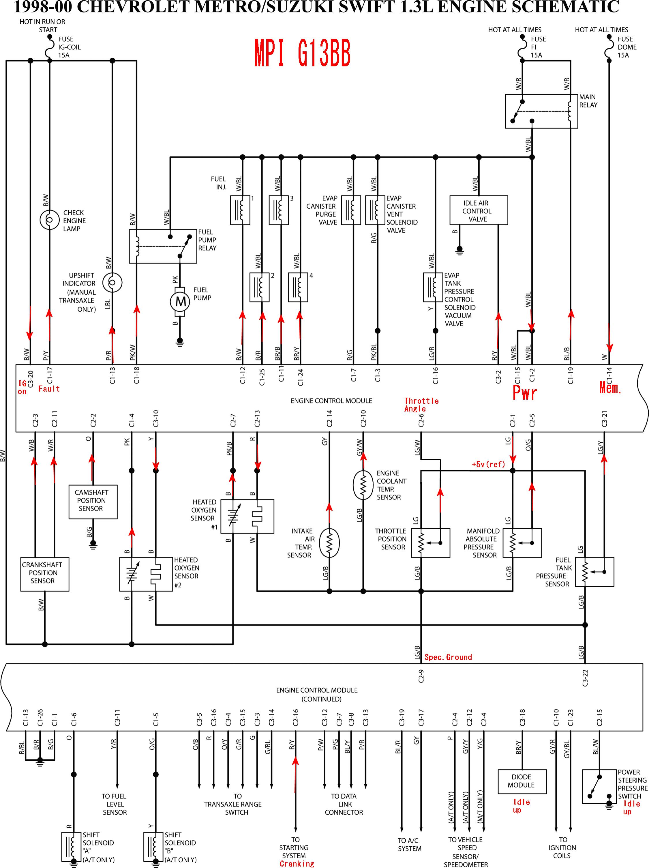 suzuki swift or geo metro, Wiring diagram