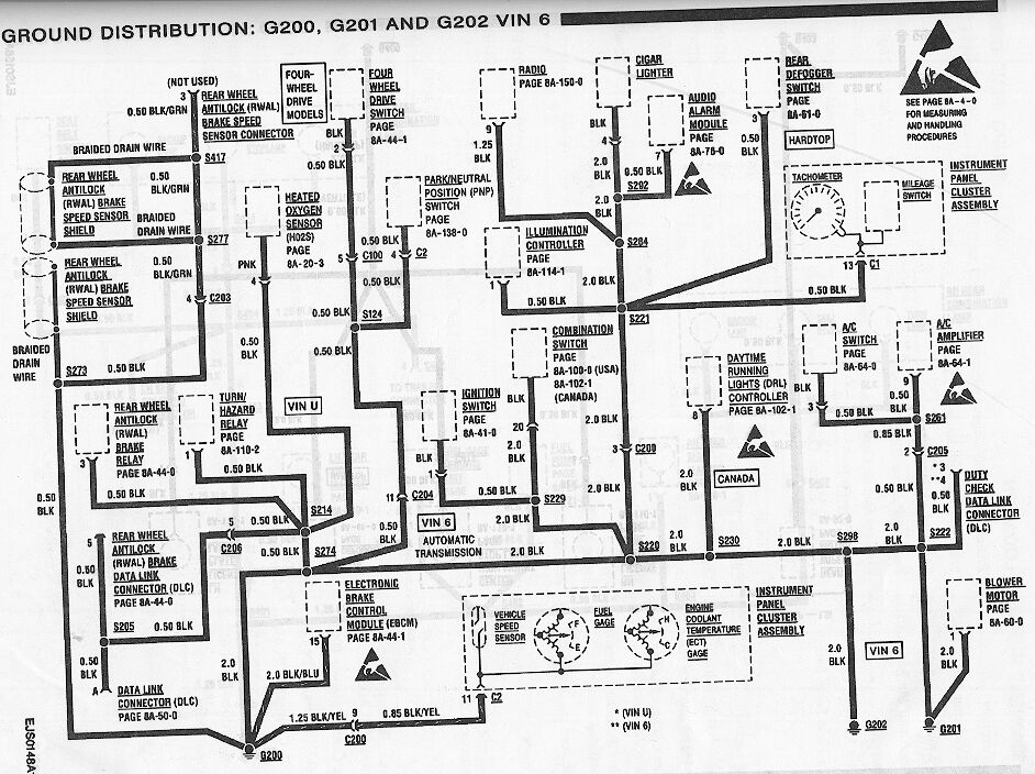 schematics to run engine 4 3 Chevy TBI ECM Wiring Diagram shift park lock out circuit