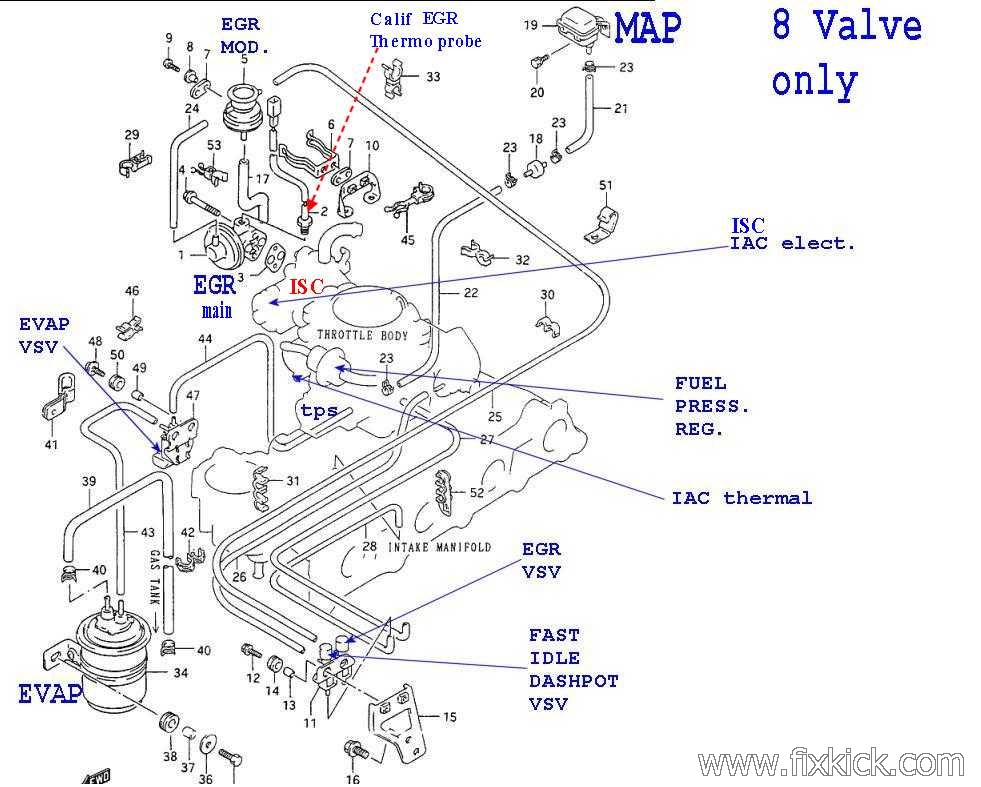 EGR Gen1 on 1994 Geo Tracker Engine Diagram