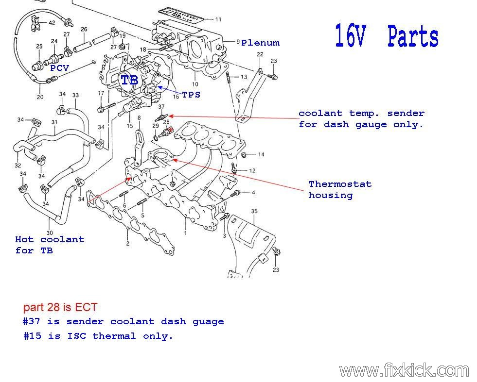 Solved  Diagram On 93 Geo Tracker 1 6 Motor