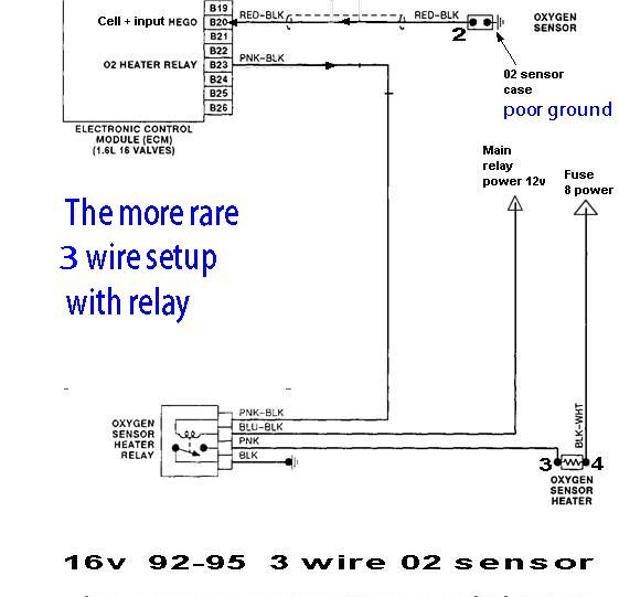 3wire 16v testing oxygen sensor Denso O2 Sensor Wiring Diagram at eliteediting.co