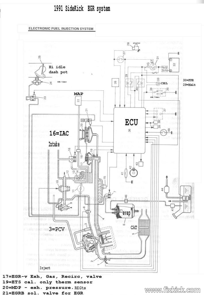 1995 suzuki sidekick motor diagram