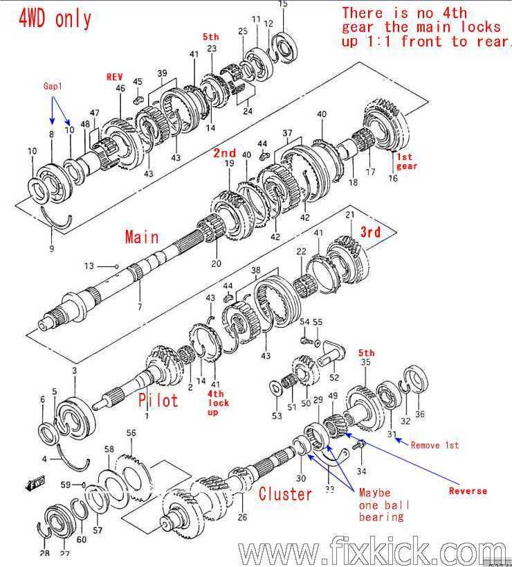 parts for 1995 geo tracker transmission