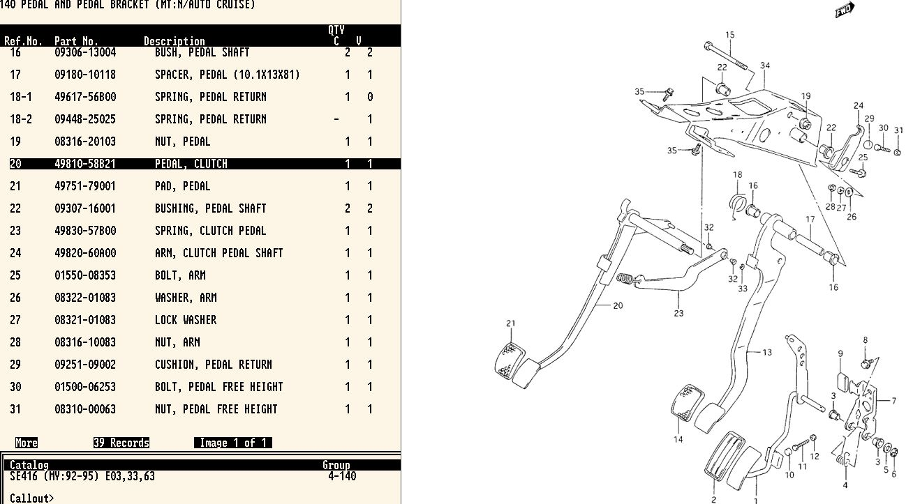 Suzuki SideKick Repair Forum - Clutch pedal bushing?