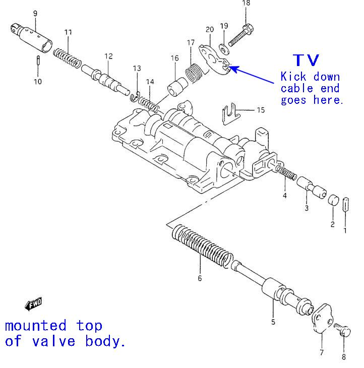 service manual  1992 geo tracker shift cable repair