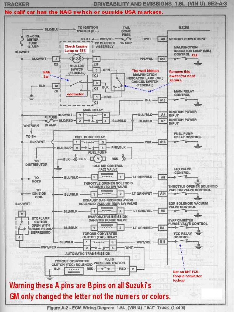 Schematics To Run Engine 1992 Geo Tracker Diagram 92 95 8v Component Locations