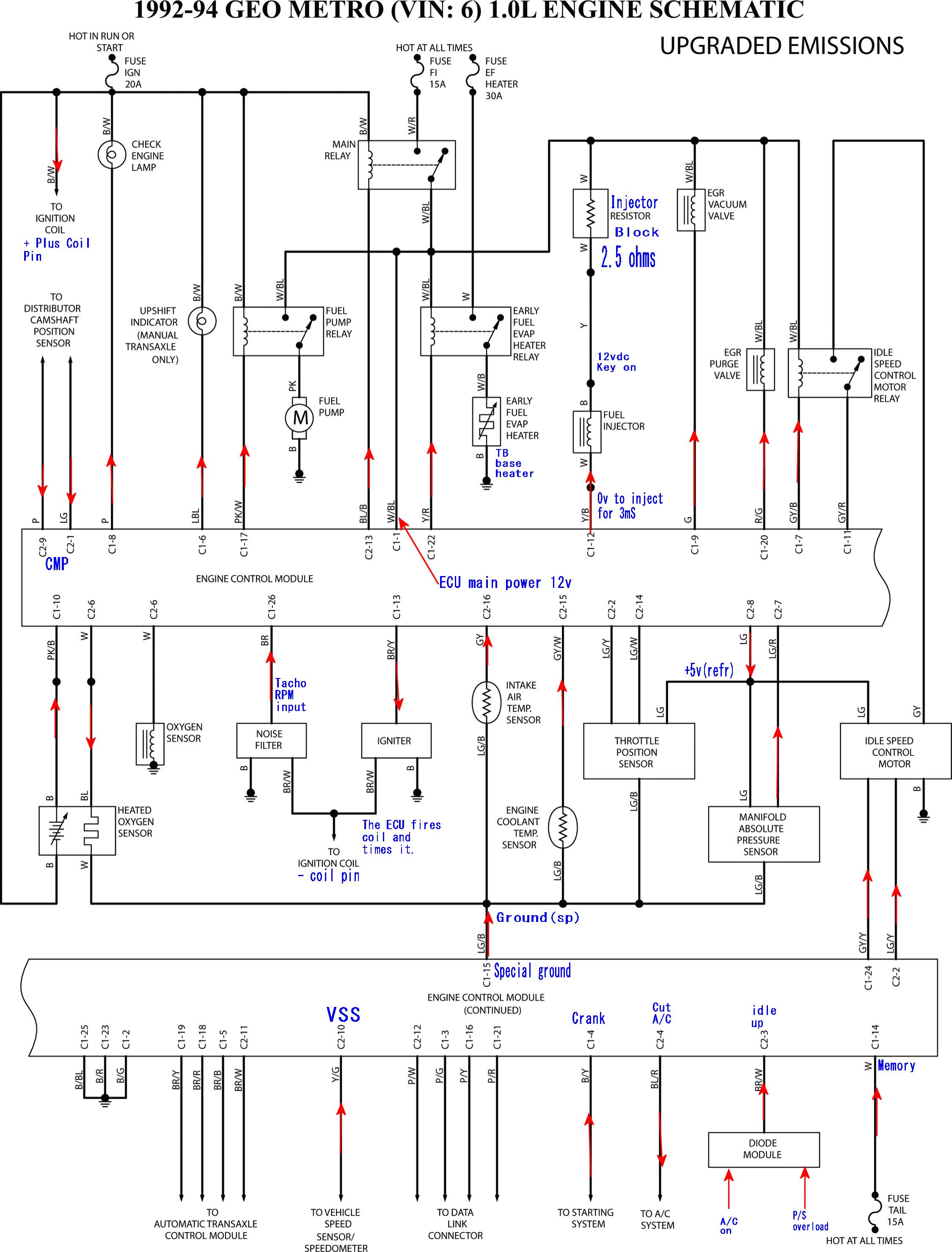 Ac Wiring Diagram 2002 Chevy Tracker Trusted 2001 Engine 2 5 Injector Electrical Work Fan Belt