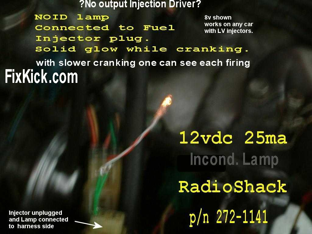 What Is An Injector Noid Lamp And Can It Do Cant Geo Metro Wiring Harness Connector Meanings My Photos Are All