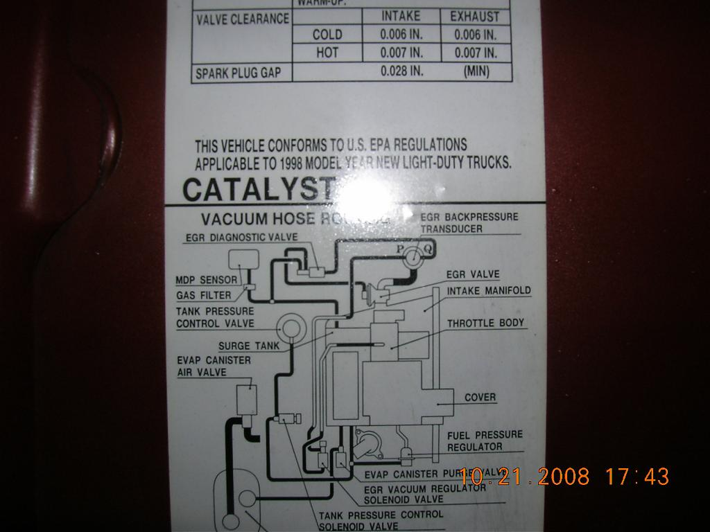 Egr Repair Methods 1996 Geo Tracker Engine Diagram Rear The Vacuum Tubes In Bay More P0400 Dct 51 Cry Wolf Issues