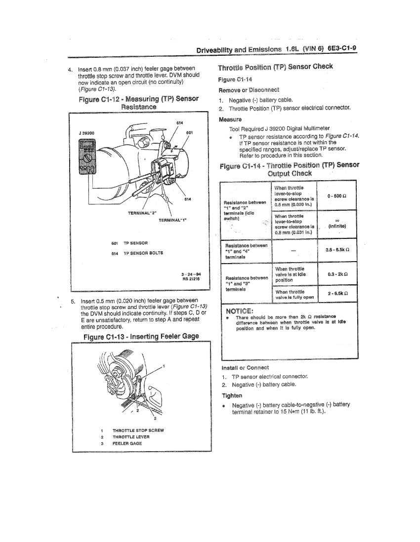 1991 Ranger Throttle Position Sensor Wiring Diagram Opinions About 4 Wire Tps Testing And Calibration All Sidekicks Trackers Rh Fixkick Com 2007 Cobalt