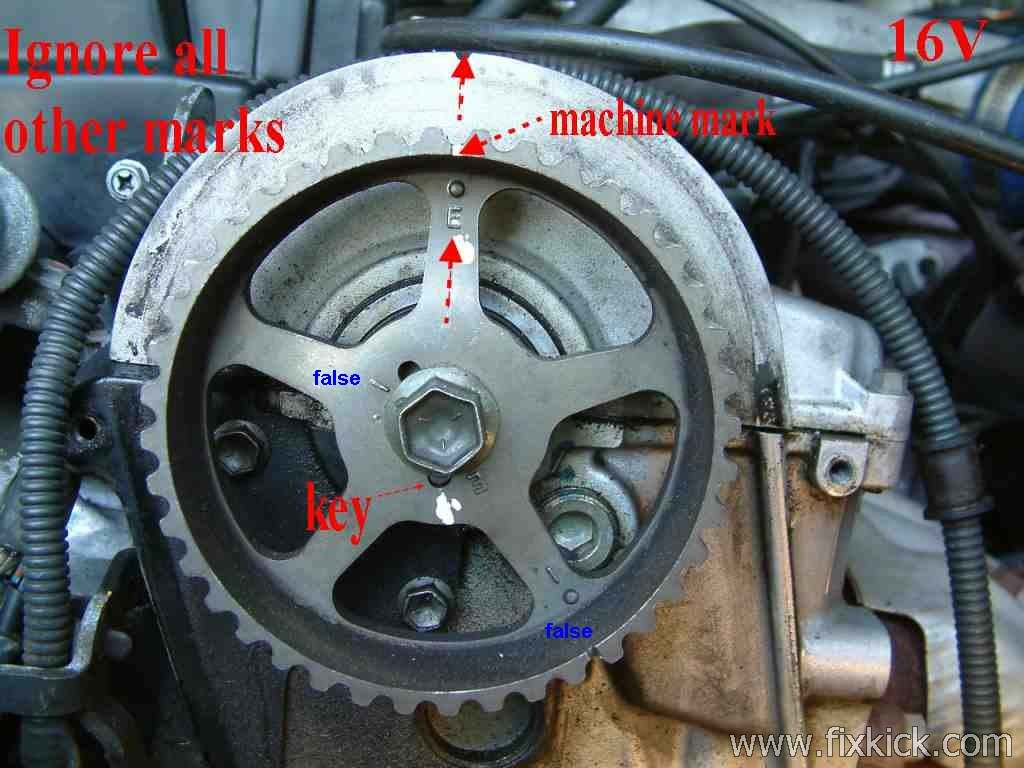 How To Set Ignition Timing Geo Prizm Engine Diagram Freeze Plugs Cam Gear Using Wrong Key Way Slot Someone Used I And Not The